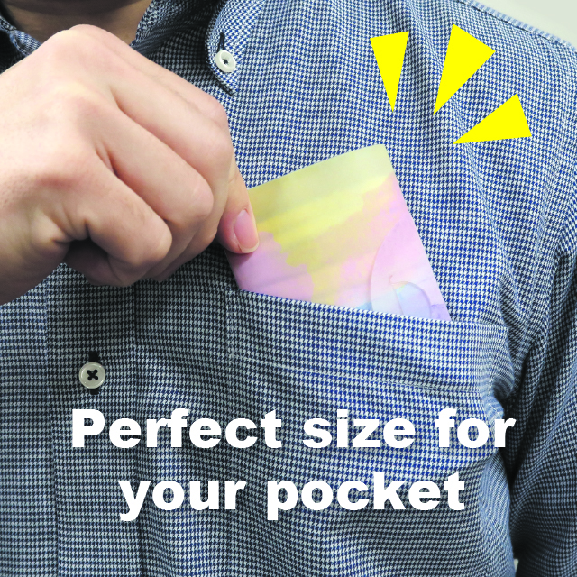 Perfect size for your poket