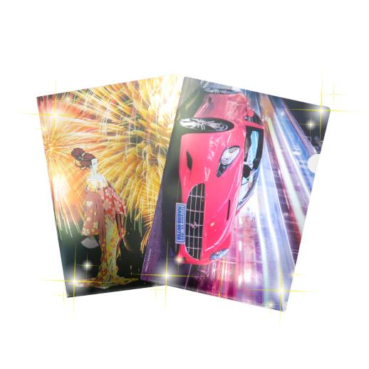 Glittering L-shape folder